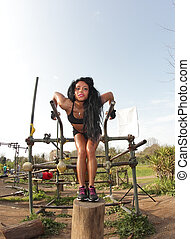 parallel bars girl