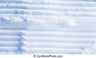 parallel stripes in the snow