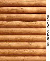 Parallel wooden logs