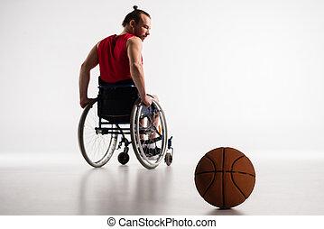 paralympic, καλαθοσφαίρα , αναπηρική καρέκλα , μπάλα