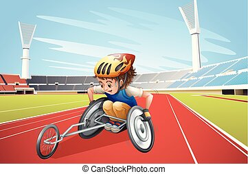 Paralympic Athletes at the Stadium illustration