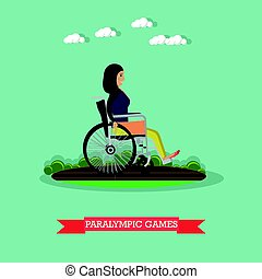 Paralympic games concept vector illustration in flat style -...