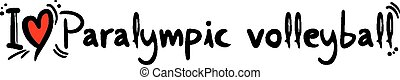 Paralympic volleyball love - Creative design of Paralympic...