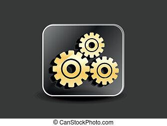 paramètres, icône, vecteur, résumé