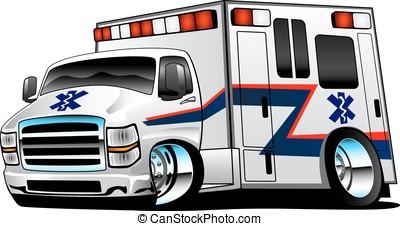 paramédico, blanco, ambulancia