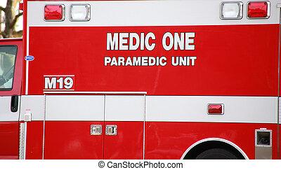 paramédico, camión