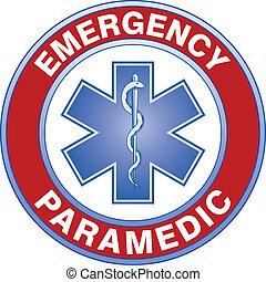 paramédico, médico, diseño