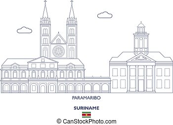 Paramaribo City Skyline, Suriname - Paramaribo Linear City...