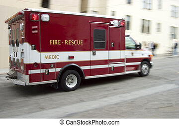 Paramedic 2 - An ambulance blazes by, it's sirens whaling. ...