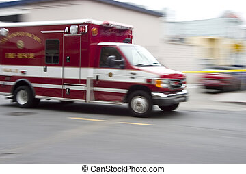 Paramedic 3 - An ambulance blazes by, it's sirens whaling. ...