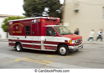 Paramedic 5 - An ambulance blazes by, it\'s sirens whaling....