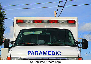 Paramedic Car - Pramedic car parked outisde of a building.