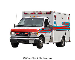 Paramedic Van Isolated - A close up on a paramedic van...