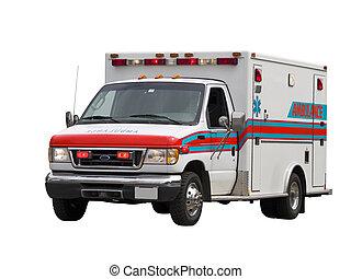 Paramedic Van Isolated - A close up on a paramedic van...