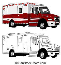 Paramedic Vehicle - An image of a paramedic vehicle.
