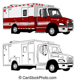 Paramedic Vehicle - An image of a paramedic vehicle.