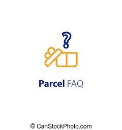 parameters, paquet, options, question, expédition, services, expédition, réponse