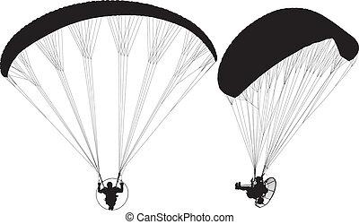 paramotor, paraglider