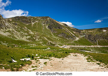 Parang mountains - Landscape with Parang mountains in...