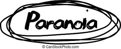 PARANOIA stamp on white isolated - PARANOIA stamp on white....