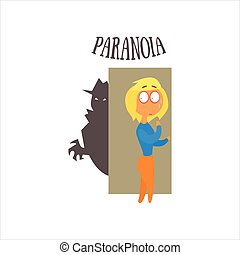Paranoia Vector Illustration - Paranoia Simplified Design...