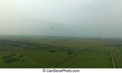 Paraplane in the air aerial 4k - Paraplane in the air aerial...