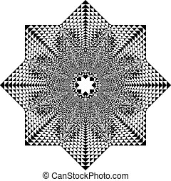 paraplu, arabesk, tridimensional, pseudo, illusie, visser, achtergrond, transparant