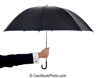 paraplu, vasthouden