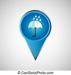 parapluie, épingle, signal, pluie, conception, weather.