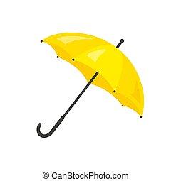 parapluie blanc, arrière-plan., jaune