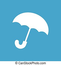 parapluie blanc, icône