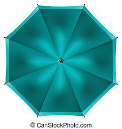 parapluie blanc, isolé, fond