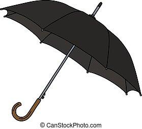 parapluie, classique, noir