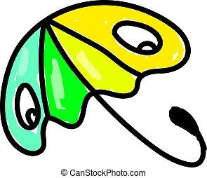 parapluie, coloré, illustration, arrière-plan., vecteur, blanc