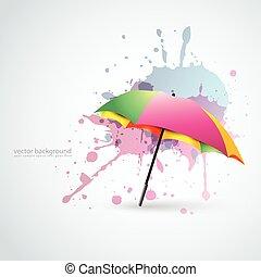 parapluie, coloré