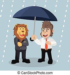parapluie, couverture, conception, illustration, sous