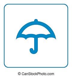parapluie, dessin animé, icône