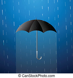 parapluie, dessin animé, illustration