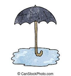 parapluie, dessin animé, texture, mouillé