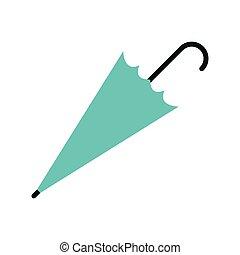 parapluie, fermé, icône