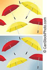 parapluie, fond