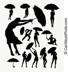 parapluie, gens