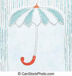 parapluie, grunge, effet, fond