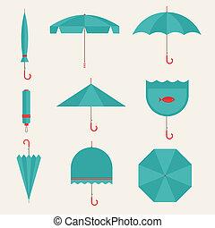 parapluie, icônes