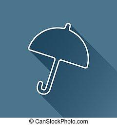 parapluie, icon., vecteur, eps10