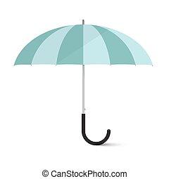 parapluie, isolé, illustration, vecteur, fond, blanc