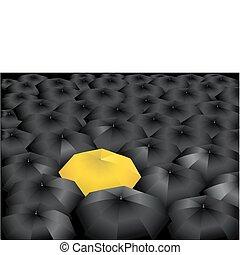 parapluie, jaune