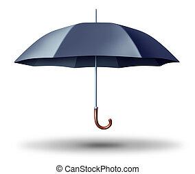 parapluie noir, ouvert