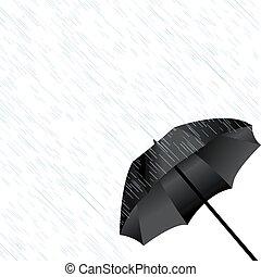 parapluie noir, pluie