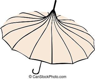 parapluie, old-fashionable, -, parasol